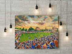 recreation ground   canvas a3 size